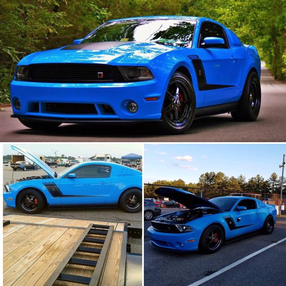Check out this wicked Roush Stage 3 Mustang! The owner has 3 different sets of R...