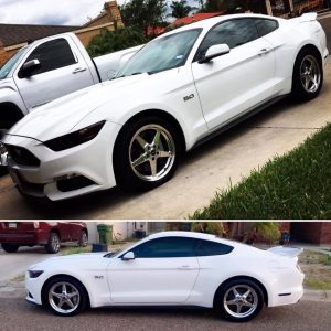One SWEET Mustang rolling on Race Star Drag Stars in 18x7.5 and 18x10.5! #racest...