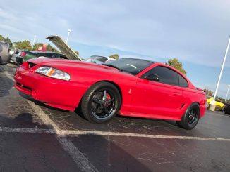 One clean SN95 Cobra Mustang rolling on Race Star Dark Stars! #racestarwheels #r...
