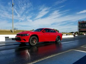 JLT Performance owner Jay Tucker launching his 10-second capable Hellcat Charger...