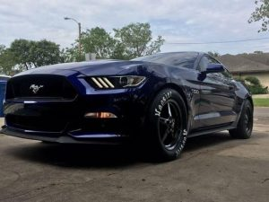 Wheel Wednesday! Check out those Dark Stars on this beautiful S550 Mustang!  #ra...