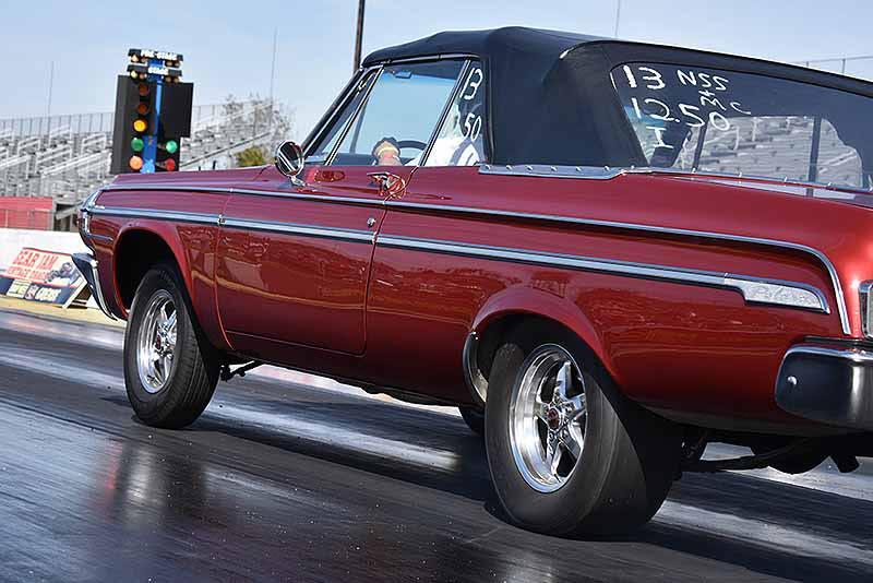 Rare sight, a 1964 Dodge Polara Convertible, owned by Ron Tefertiller, rocking a...