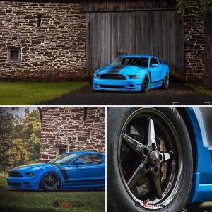 Here's one beautiful, Race Star Wheels equipped Mustang owned by @boss_coyote. I...