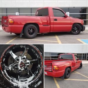This is one SWEET Silverado, rolling on Race Stars, and owned by @laytonpomerlea...