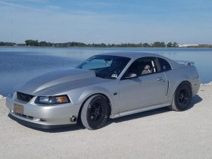 One sinister looking Mustang rolling on Race Star Wheels!  Owner: @shawnfie...