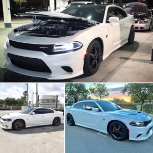One NASTY Hellcat Charger rolling on Race Stars! #racestarwheels #racerschoosera...