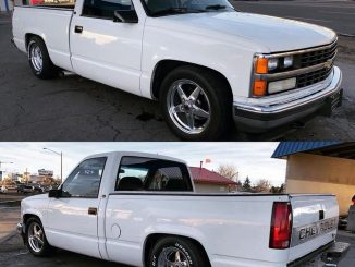 One SWEET Silverado, dropped down on a set of Race Stars! #racestarwheels #racer...