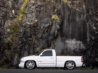 Check out this SICK GMC Sierra sitting low on a set of a Race Stars! #racestarwh...