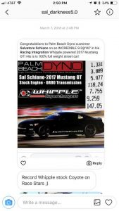 @sal_darkness5.0 set a stock Coyote Whipple record at the NMRA Spring Break...