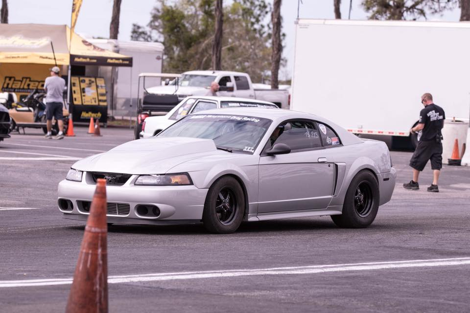 NMRA Racer Shawn Field getting ready to make a pass in his Race Star Wheels equi...