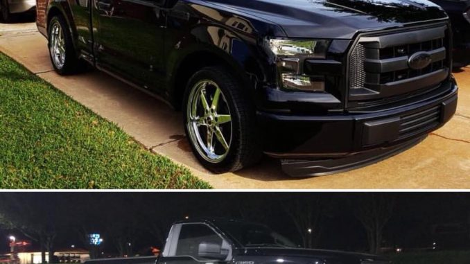 This is one BAD F-150, powered by a 2.7 Ecoboost and rolling on Race Star Wheels...
