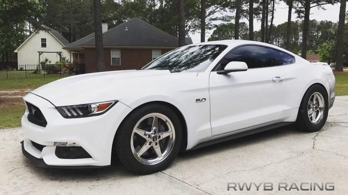 One sweet, Race Star Wheels equipped, Votech supercharged, S550 Mustang! #racest...
