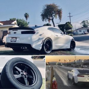 """It's crazy what what drag wheel setup can do for your times!"" Says owner Andres..."