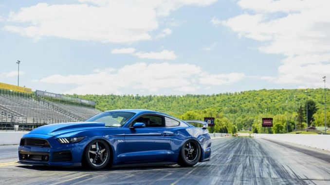 This is one sick shot of Stephanie Wood's KILLER S550 Mustang, sitting low on a ...