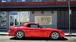 One wicked LS swapped RX7! Owner: Matthew Byer  .  .  #racestarwheels   #maxda  ...