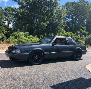 One killer Fox Body Coupe from Mustang Week rolling on Race Stars! #racestarwhee...