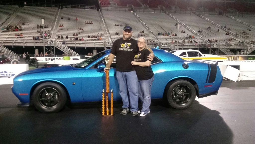 Jason Nelson taking home the win in his Race Star Wheels equipped Dodge Challeng...