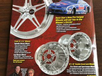 Check out the latest issue of Drag Racing Edge magazine with our ad on the back ...