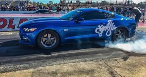 Justin Henry doing what he does best with his Race Star Wheels equipped Mustang!...