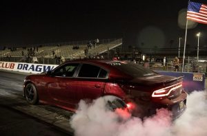 @syck_srt lighting 'em up in his wicked Charger! #racestarwheels #racestarequipp...