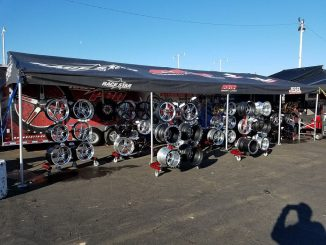 We're all set up here at the NHRA #arizonanationals! Drop by and see us! #racest...
