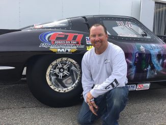 This is Top Sportsman racer Monte Weaver showing off his new Race Star Pro Forge...