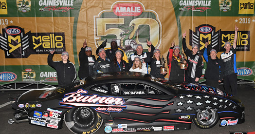Bo Butner wins the 50th NHRA Gatornationals, Anderson picking up steam