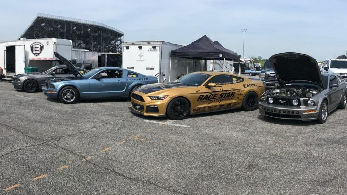 It's a quartet of #racestarequipped Mustangs for #mustangmonday!! #racestarwheel...
