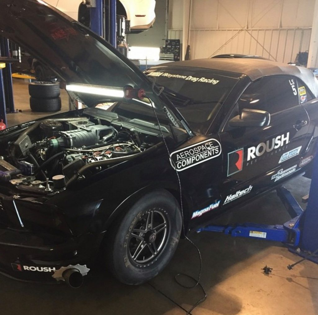 Race Star Wheels racer Kent Nine getting some prep work in before heading to the...