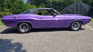 One gorgeous Plum Crazy '70 Dodge Challenger built by The Resto Garage and rolli...