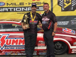 Greg Anderson and Greg Bennett - NHRA Winner's Circle