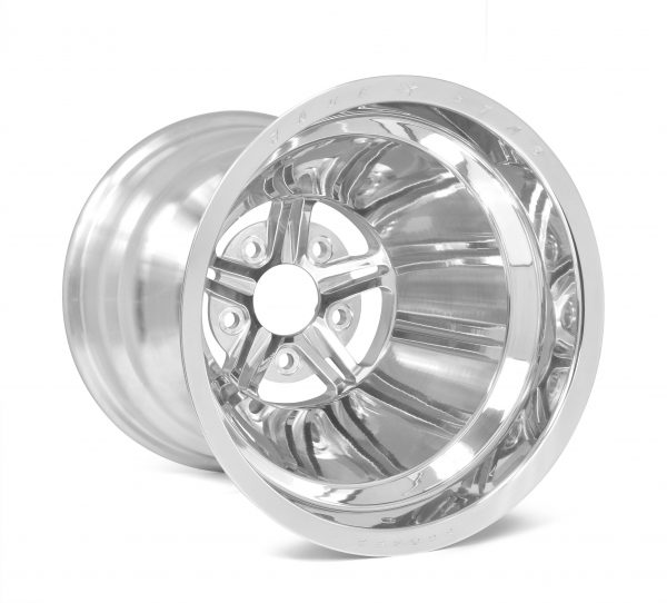 "63 Pro Forged 15x10 NBL Sportsman Polished 5x4.50 BC 6.25"" BS"