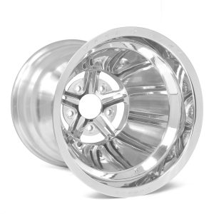 "63 Pro Forged 15x10 NBL Sportsman Polished 5x4.75 BC 4.00"" BS"