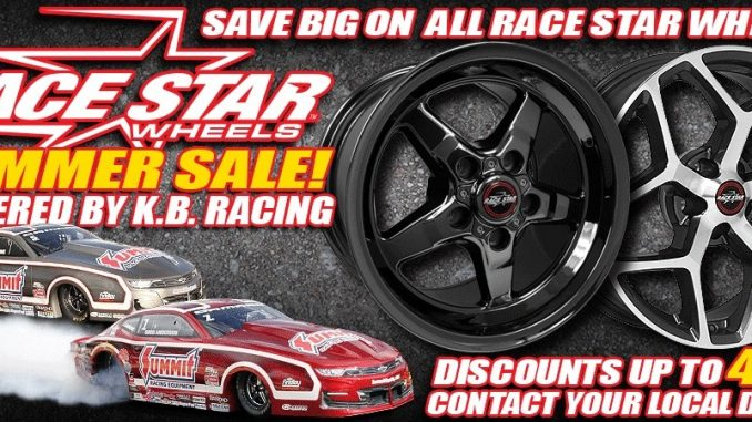 Our Summer Sale Powered by KB Racing rolls on!! Log onto www.racestarindustries....