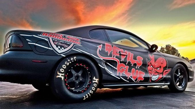 Nic Roberts from Wichita, KS sent us this awesome pic of his '96 Mustang on Race...