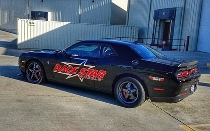 We just bolted up a new set of wheels on our Hellcat, 92 Drag Stars with the all...