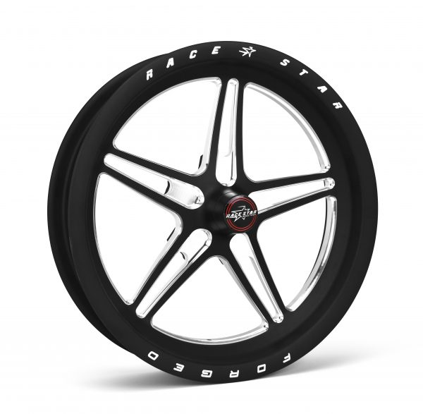 """63 Pro Forged 15x3.50 Lug Mount Black Anodized/Machined 5x4.75 BC 2.55"""" BS"""