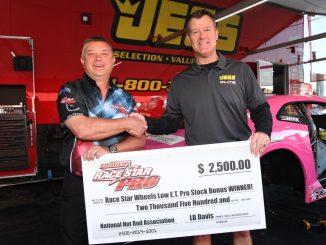 Congratulations to Jeg Coughlin Jr. for winning the Race Star Wheels Low E.T. Pr...