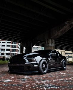This is one sinister looking Mustang....rolling on Race Stars of course!  Owner:...