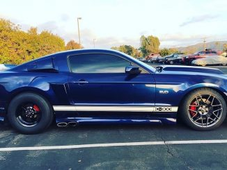 Talk about hot!  Kona Blue Mustang GT rolling on Race Stars! Owner: @kona_coyote...
