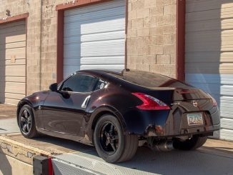 Check out this nasty 370Z with some FAT Race Stars our back! Owner: @hussein370z...