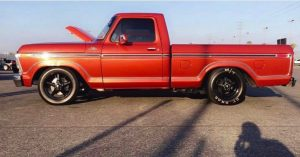 One clean F100 on Race Stars!  Owner: @guero_avendano74 #racestarwheels #norcalf...