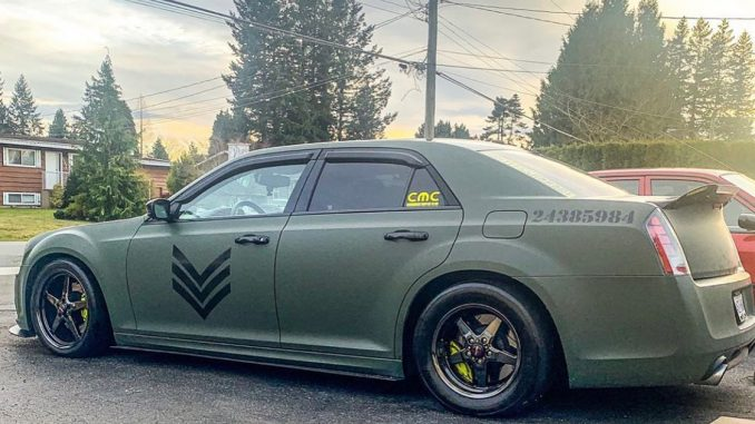 We're digging this very unique Chrysler 300!   Owner: @srt_tiefighter   #racesta...