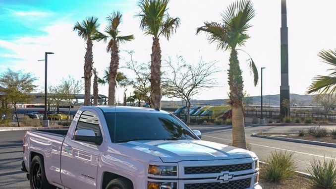 We absolutely love how this Chevy Silverado looks rolling on our Truck Star whee...