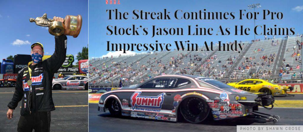 Jason Line WINS at Indy!
