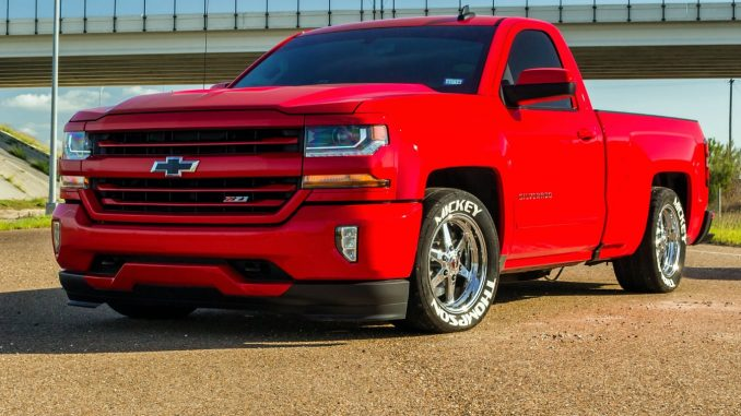 """Red Hot boosted Chevy Silverado rolling on 17"""" 93 Truck Stars!   Owner: Miguel Z..."""