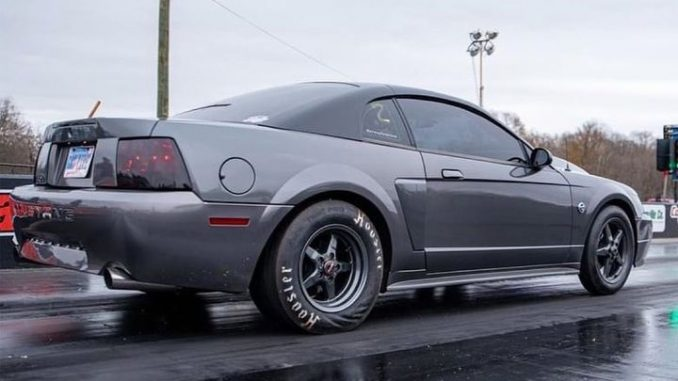 @crazyfunblond launching her Mustang this past weekend at the track in her que...