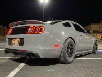 Perfect shot for Mustang Monday!  Owner: @alex_5.o   #racestarswheels #racesta...