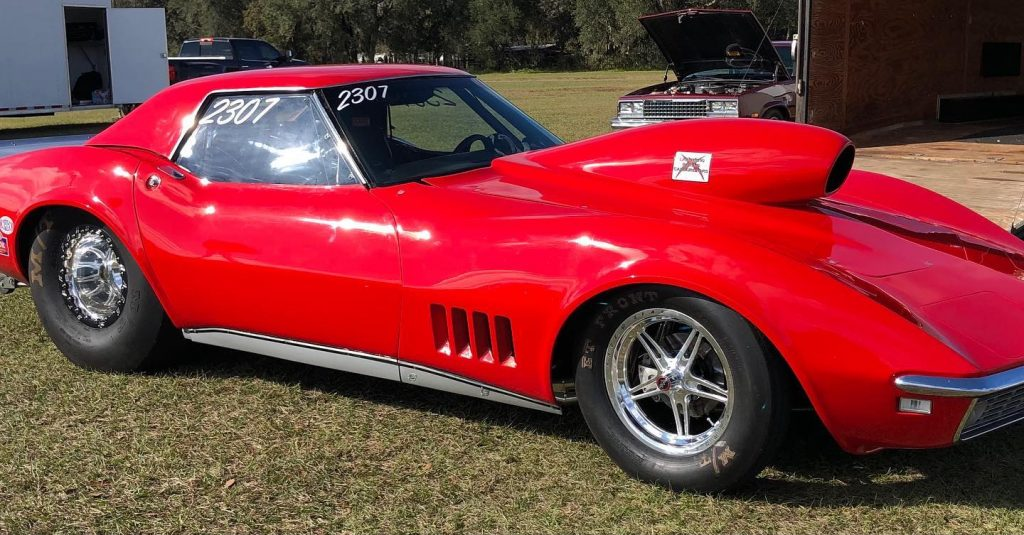 One beautiful 1968 Chevrolet Corvette, rolling on 15x3.5 63 Pro Forged fronts,...