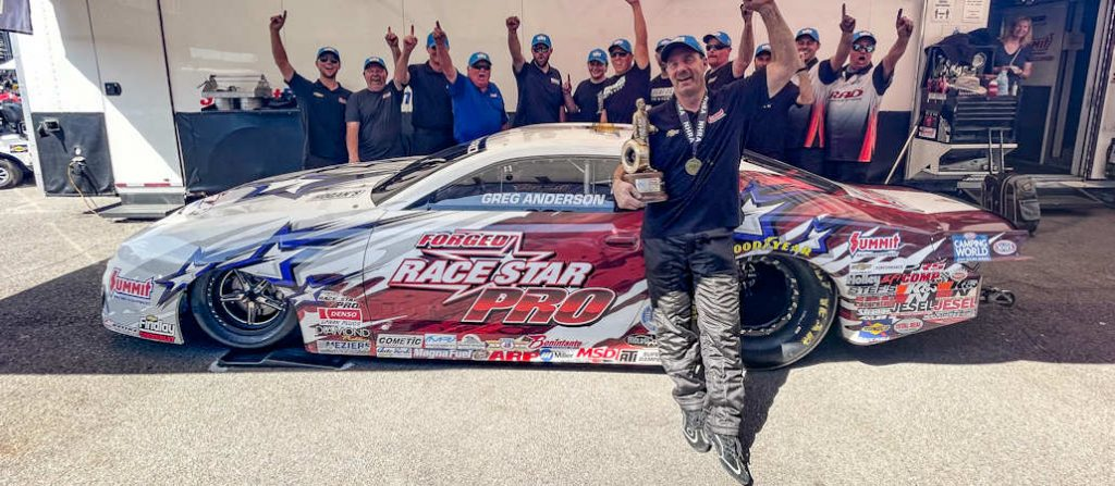 Greg Anderson celebrates 60th birthday with 95th career Pro Stock victory in Gainesville